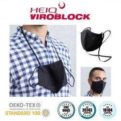Neck mask/turn with HeiQ Viroblock NPJ03 technology