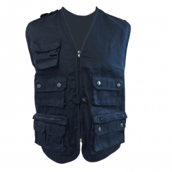Multi pocket safari vest