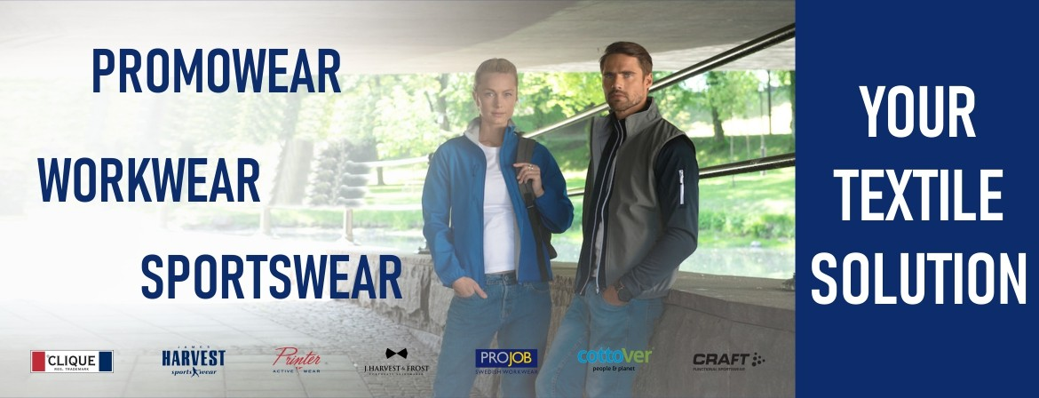 Promowear, workwear and sportswear